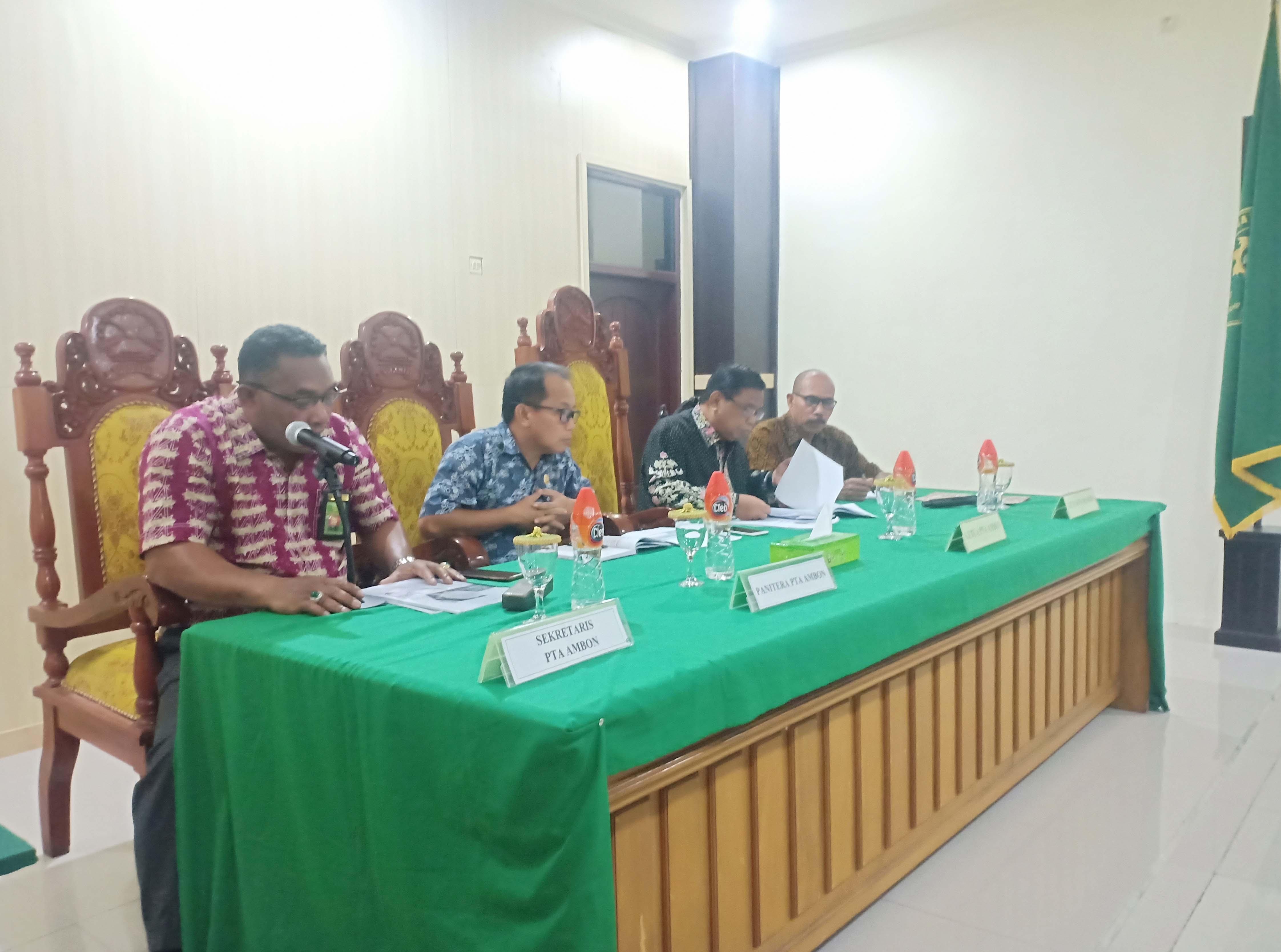 Rapat Pembinaan Tim PTA Ambon